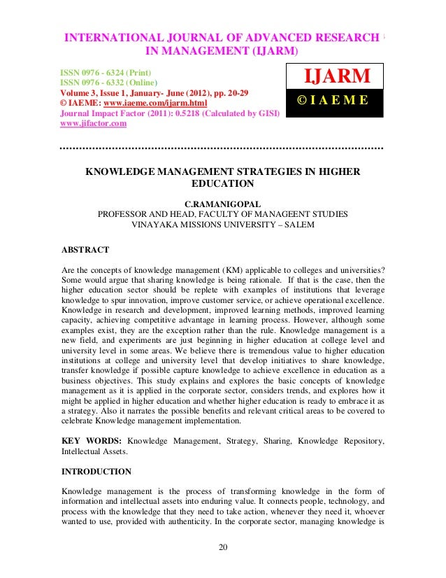 International Journal of Advanced Research in Management (IJARM),RESEARCH INTERNATIONAL JOURNAL OF ADVANCED ISSN 0976 – 63...