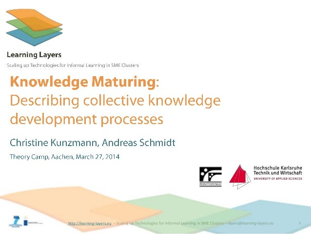 Knowledge maturing - Learning Layers Theory Camp