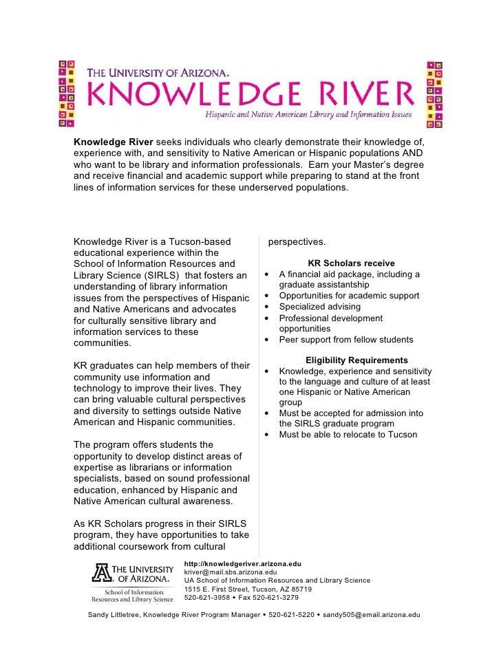 Knowledge River Handout Aug 14 09