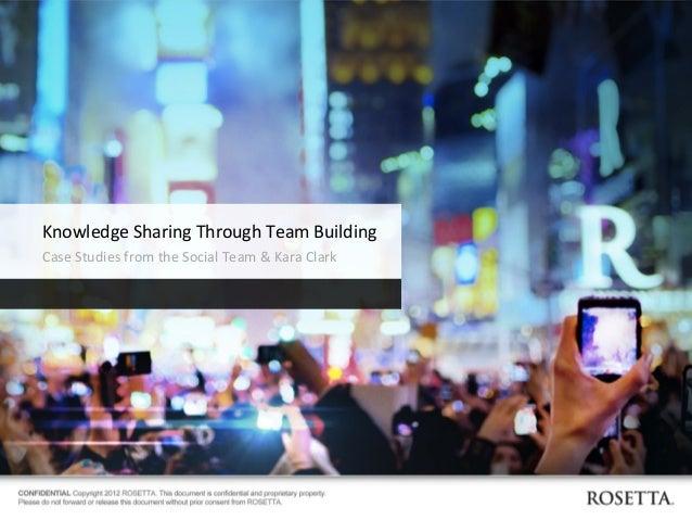 team building exercises case studies