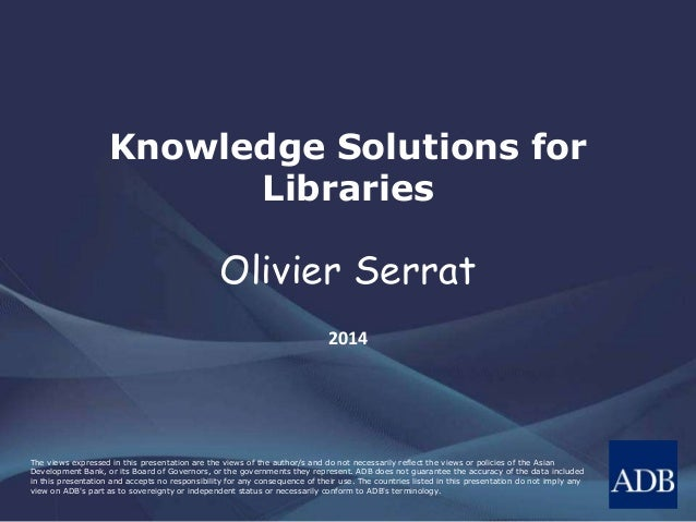 Knowledge Solutions for Libraries