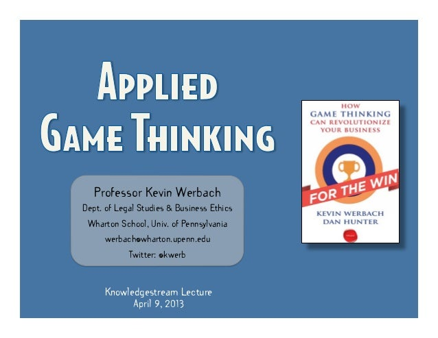 Applied Game Thinking