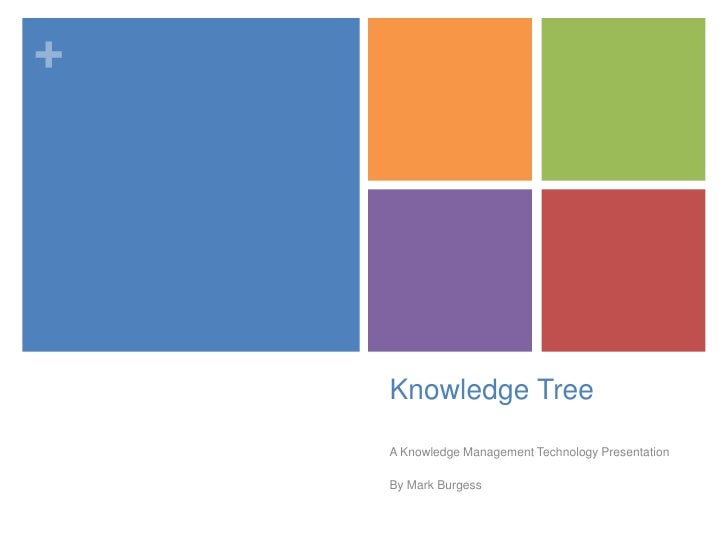 Knowledge Tree<br />A Knowledge Management Technology Presentation<br />By Mark Burgess<br />