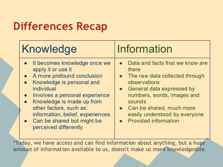 Knowledge vs Experience?