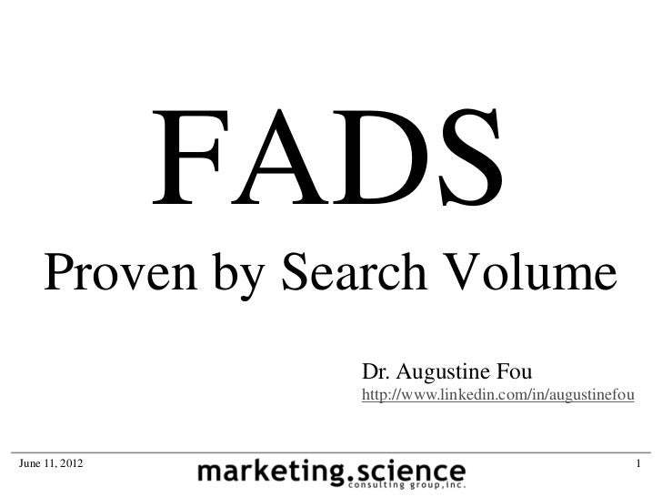 FADS    Proven by Search Volume                  Dr. Augustine Fou                  http://www.linkedin.com/in/augustinefo...