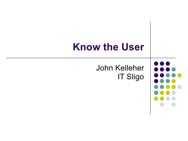 Know the User John Kelleher IT Sligo