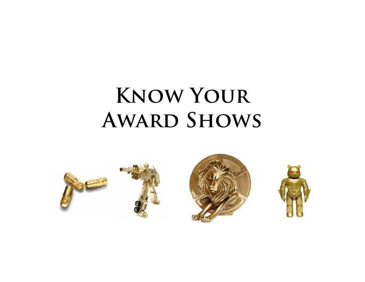 Know Your Award Shows