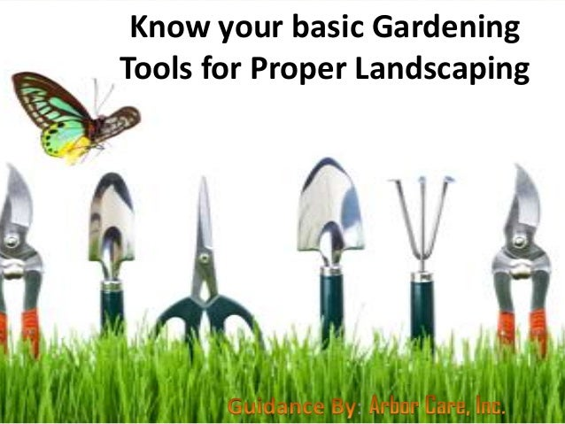 Know your basic gardening tools for proper landscaping for Gardening tools online