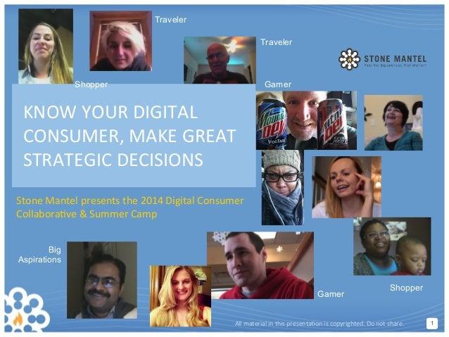 11 Stone  Mantel  presents  the  2014  Digital  Consumer   Collabora9ve  &  Summer  Camp   All  ma...