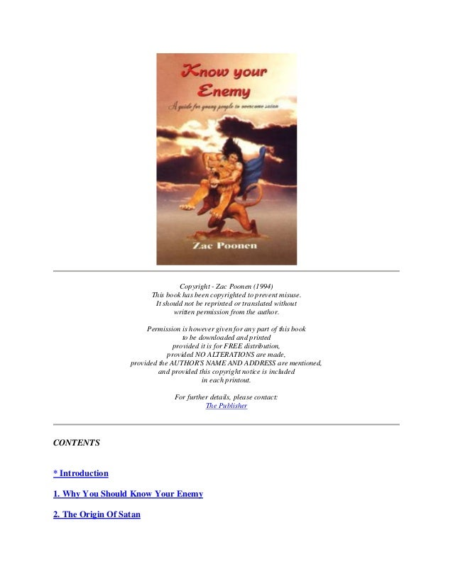 Copyright - Zac Poonen (1994)                         This book has been copyrighted to prevent misuse.                   ...