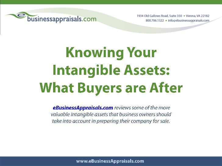 Know your intangible assets   e businessappraisals.com