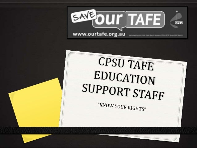 Know your Rights at TAFE