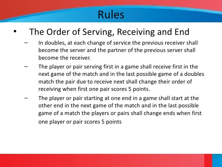 Table tennis overview for 10 table tennis rules