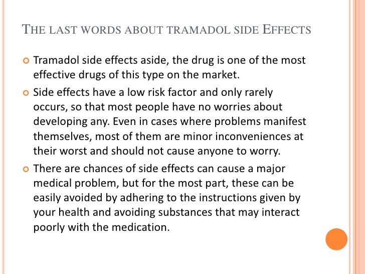 drug tramadol side effects