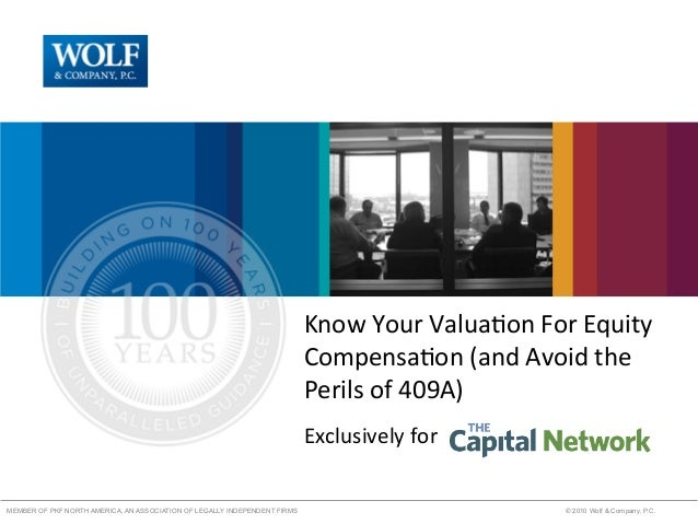 Know your valuation for equity compensation and avoid the perils of 409a