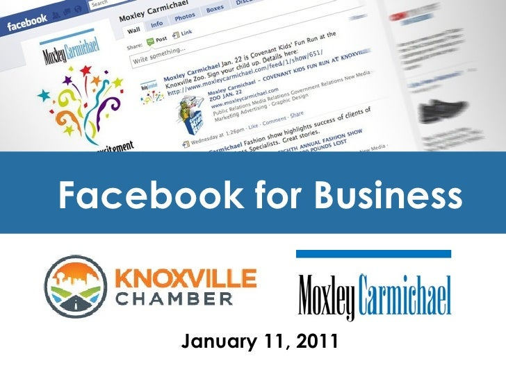 Facebook for Business  January 11, 2011
