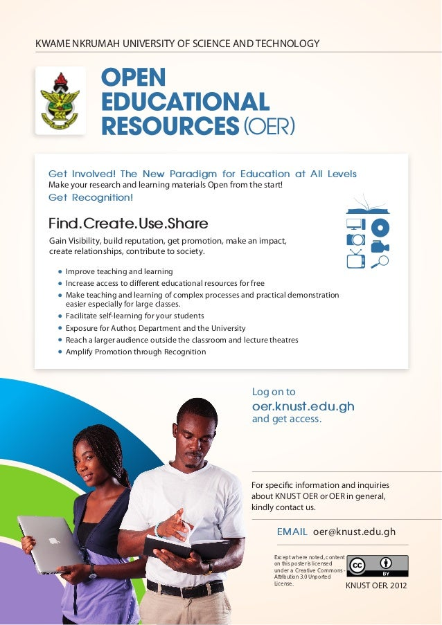 KWAME NKRUMAH UNIVERSITY OF SCIENCE AND TECHNOLOGY  Get Involved! The New Paradigm for Education at All Levels  Make your ...