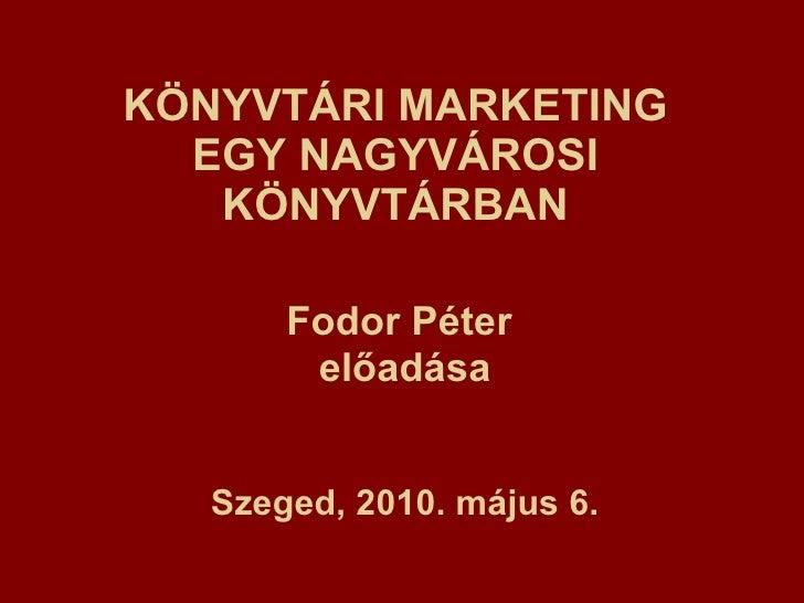 Könyvtári marketing