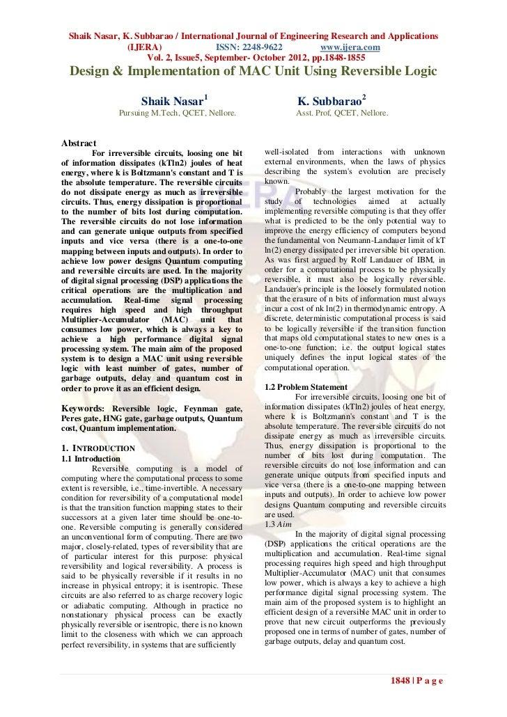 Shaik Nasar, K. Subbarao / International Journal of Engineering Research and Applications                (IJERA)          ...