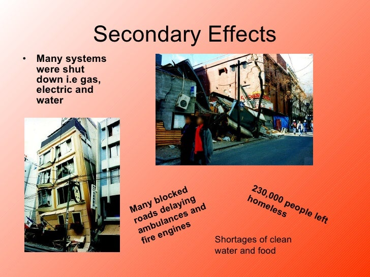 What were the primary effects of the Kobe earthquake?