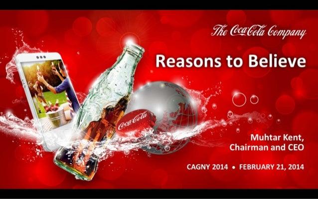 Coca Cola Strategy Presentation at CAGNY 2014