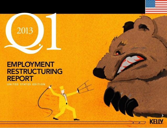 U.S. Employment Restructuring Report Q1 2013