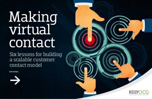 Making virtual contact Kim SOKOL Six lessons for building a scalable customer contact model