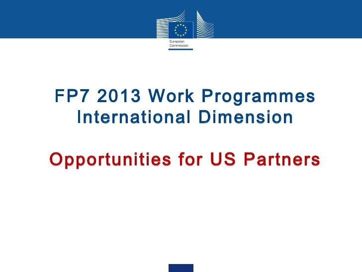 Koch  fp7 - info day - wp 2013