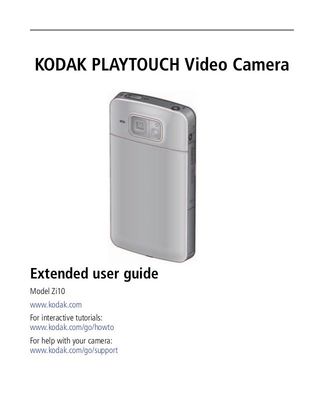 Kodak playtouch-zi10-user-manual