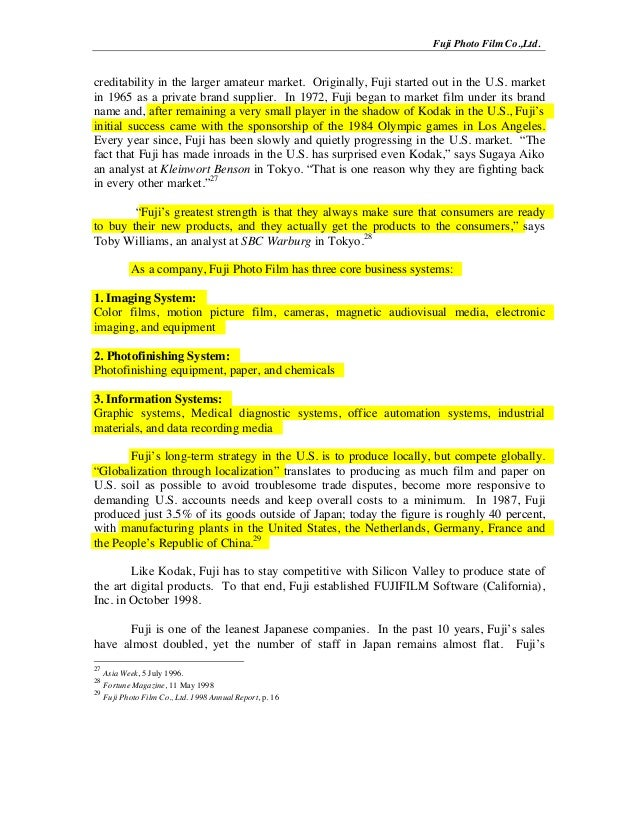 eastman kodak company case study funtime film Teaching note for (9-594-111) harvard business school harvard business review.