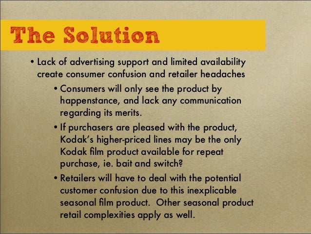 kodak case study solution Eastman kodak ® company hid customer case study additional applications of this product as a global solution kodak determined that the.