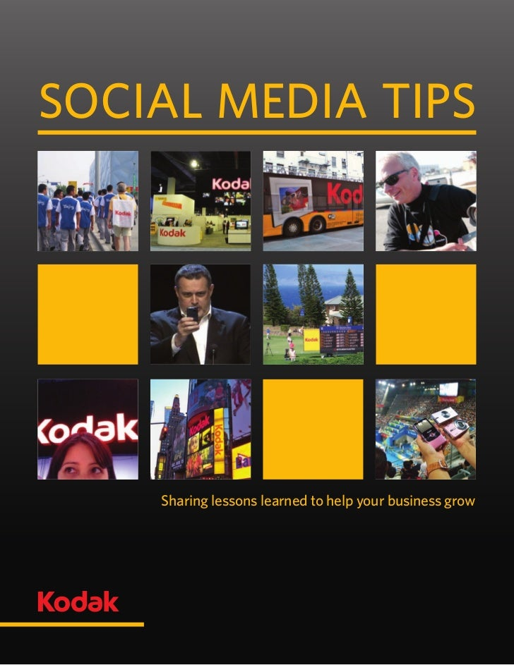 【柯达社交媒体指南】Kodak social mediatips_aug14