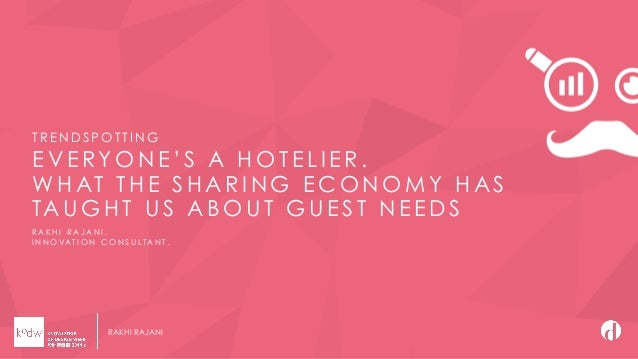 KODW Trends in hospitality fuelled by the sharing economy