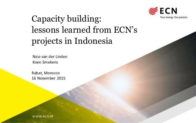 mr koen smekens   capacity building lessons learned from