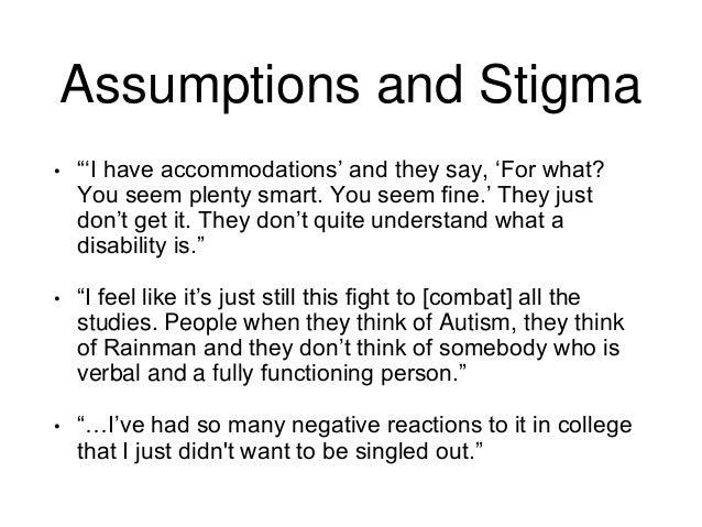 Dissertation assumptions?