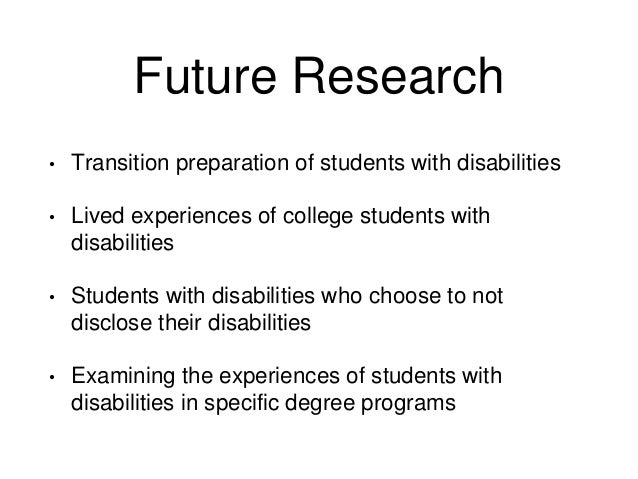 Child disability learning program thesis transition