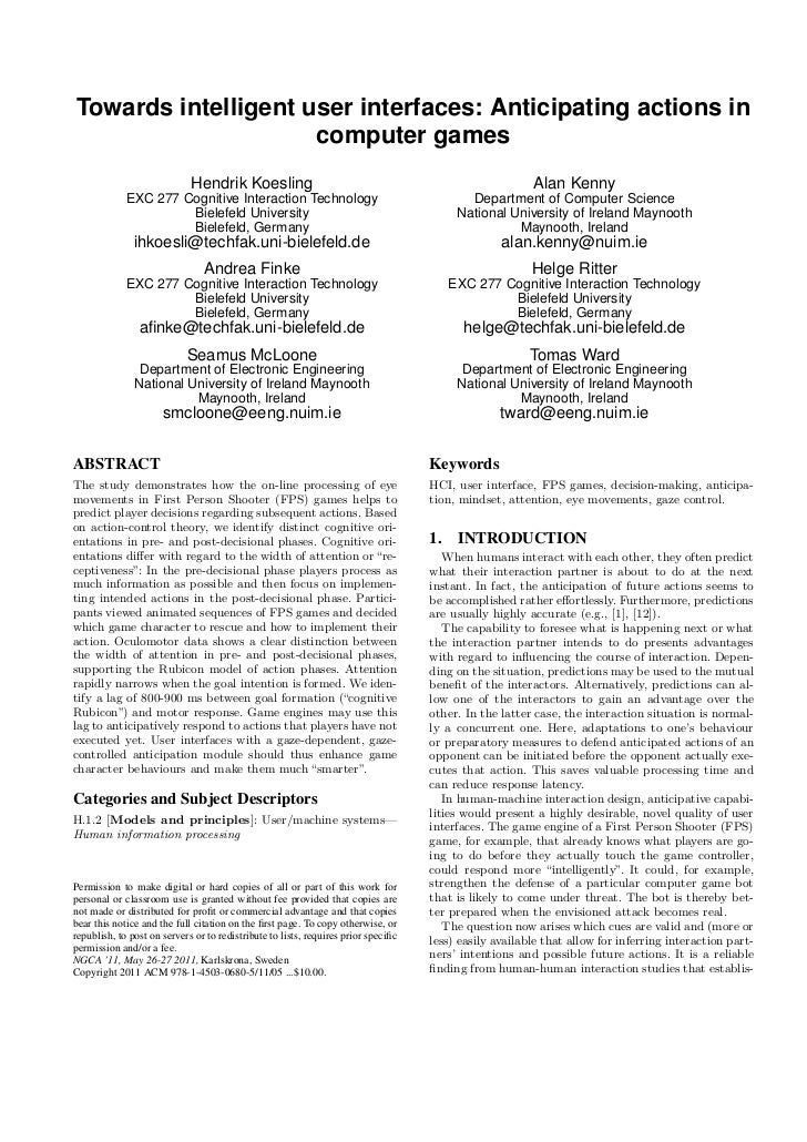 Koesling.2011.towards intelligent user interfaces anticipating actions in computer games