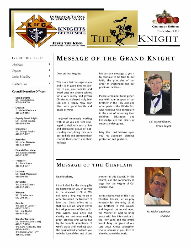 Jesus the King Council  newsletter christmas-edition-2011