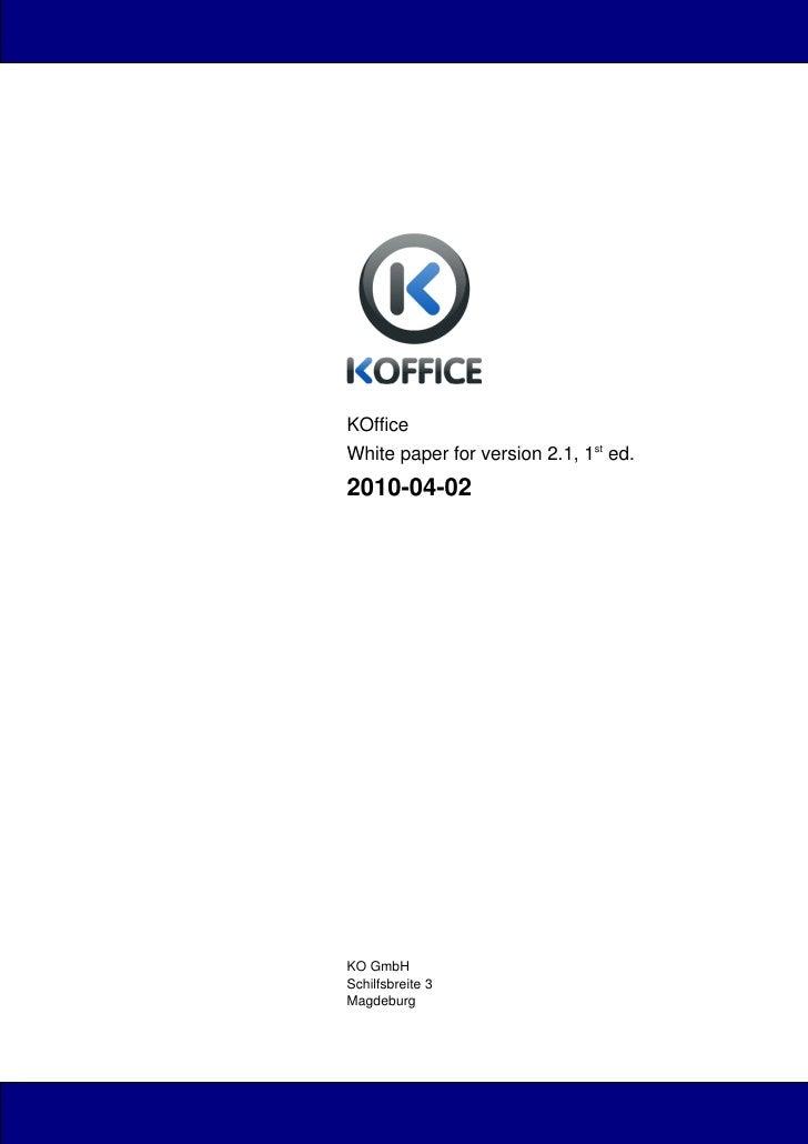 Koffice whitepaper 2.1