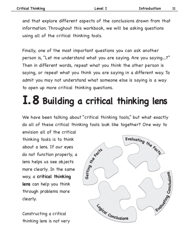 critical thinking steps questions Critical thinking is the term given to the thinking skills used when analyzing the steps of this process item and the subsequent question that must be.