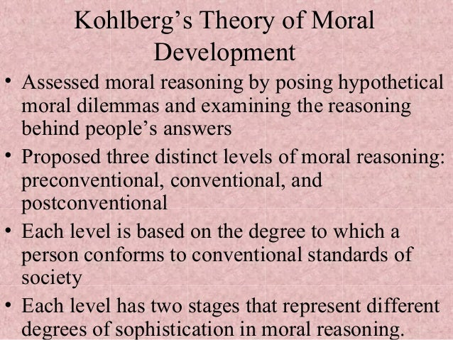 describe kohlbergs stages or moral development 11102018 kohlberg (1968 ) levels: as, a level  motivated by piaget's theory of moral development,  development through stages of moral development is not.