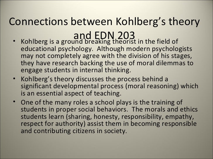 kohlbergs model essay View essay - kohlberg's  kohlberg's moral development - running head kohlbergs  kohlberg's model is a stage theory that explains various stages of.