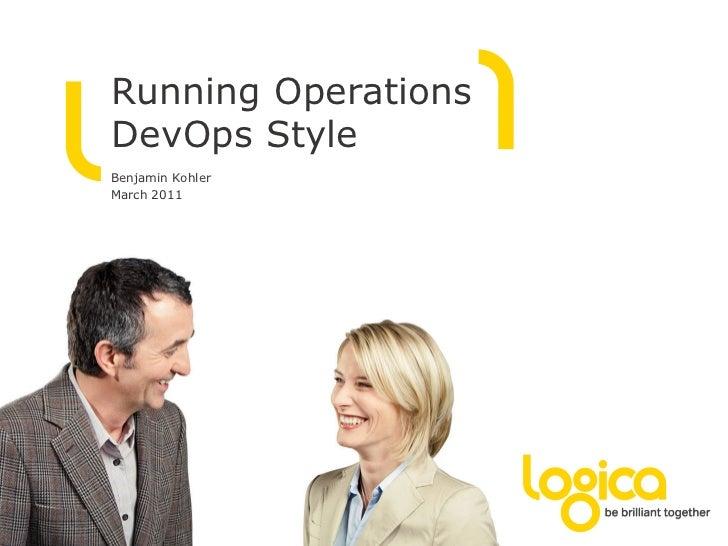 WS: Kohler, Logica - Running operations devops style