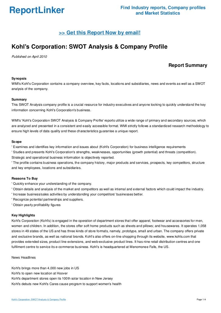 financial statement analysis kohl s corporation and dillard s inc Mba-520 financial analysis - final report 1 financial analysis final report macy's thomas mcdonald mba-520 southern new hampshire university.