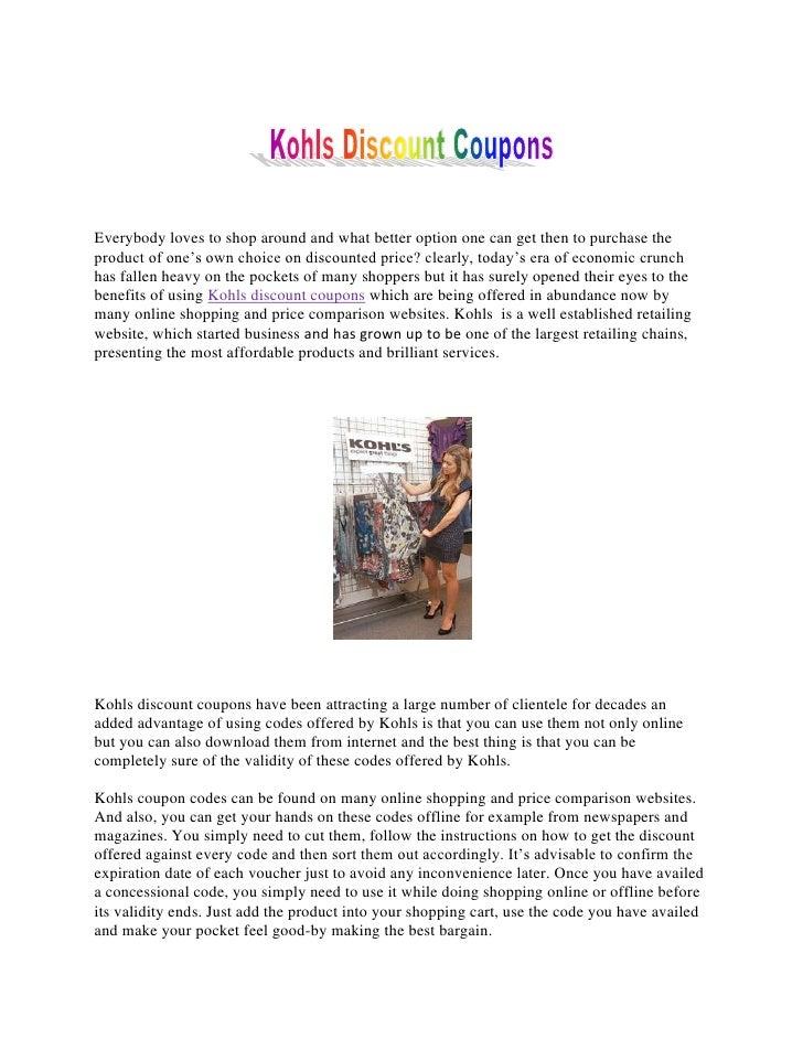Kohls Discount Coupons