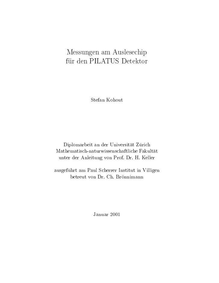 Kohout Diploma