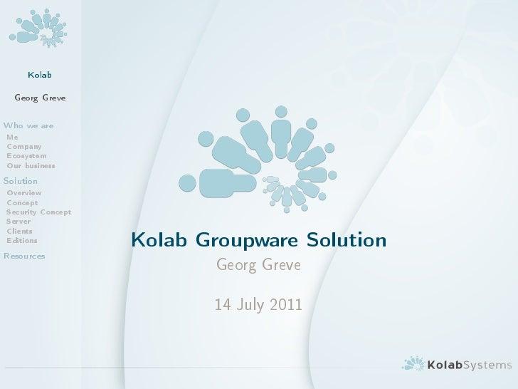 Kolab Groupware Overview