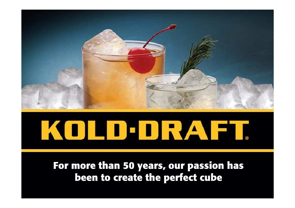 KOLD-DRAFT Ice Machines Produce Pure, Quality Cocktail Ice Cubes