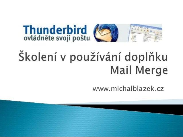 Školení v používání doplňku Mail Merge