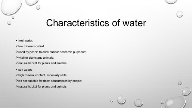 3 properties of water essay Start studying 5 properties of water learn vocabulary, terms, and more with flashcards, games, and other study tools.